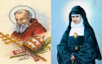 São João I, papa e mártir e Santa Rafaela Maria, fundadora das Escravas do Sagrado Coração de Jesus