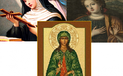 Santa Rita de Cássia, Santa Quitéria e Santa Júlia