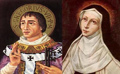 São Beda Venerável, Gregório VII e Santa Maria Madalena de Pazzi